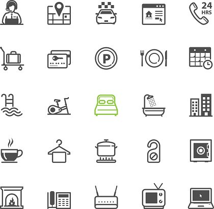 Hotel And Amenities Services Icons