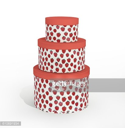 Round Decorative Box Packaging For Gifts Storage Space