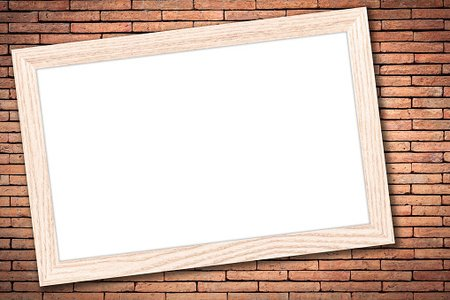 Whiteboard With A Wooden Frame ON Brick Wall premium clipart ...