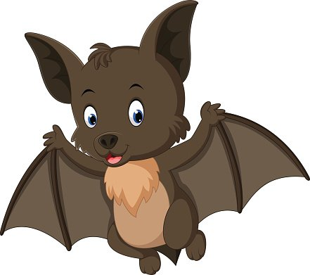 Bat cartoon. Flying premium clipart clipartlogo