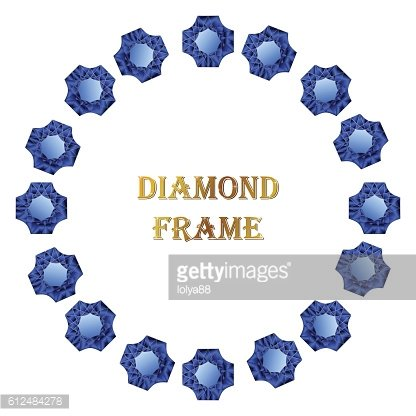 Diamonds round frame