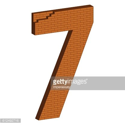 The number in the form of brickwork