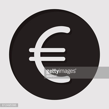 information icon - euro currency symbol