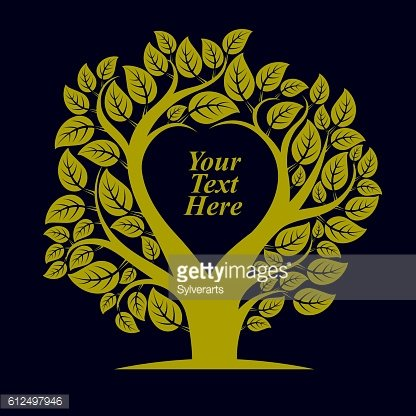 Vector illustration of tree with blank copy space