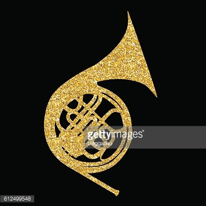 Musical Instrument Horn, which is Used in Symphony Orchestras and