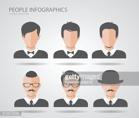 infographics people silhouette graphic design