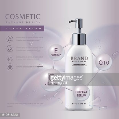 Cosmetic product poster