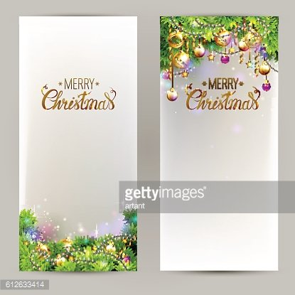 Elegant Christmas backgrounds with evening balls and fir-trees branches