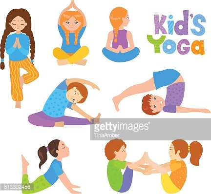 Cute Kids Doing Yoga premium clipart - ClipartLogo com