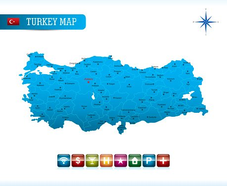 Turkey Vector Map premium clipart - ClipartLogo.com