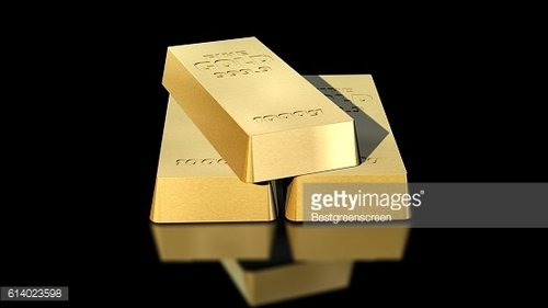 1000g gold bars on black background