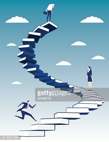Business people on book stair. Concept business illustration. Ve