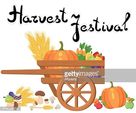 Harvest festival. Harvest fruits and vegetables. Autumn Collection of elements