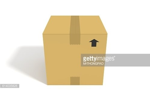 The Box on white background