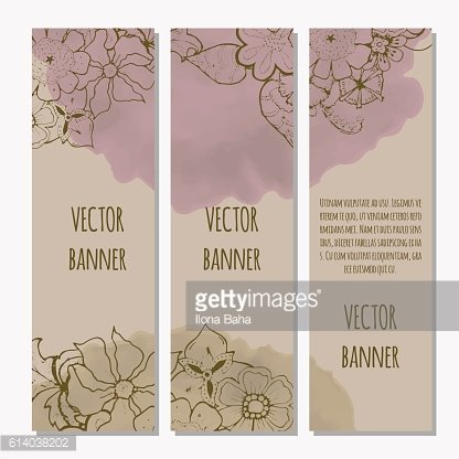 Ornate floral flyer with flowers. Doodle sharpie background. template for