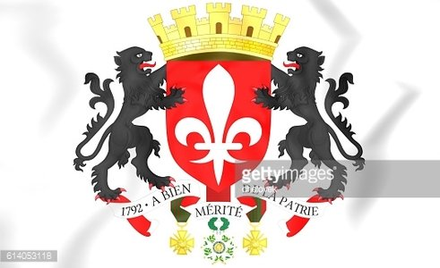 Lille coat of arms, France.