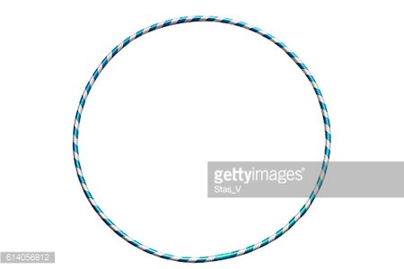 The hula Hoop light blue with silver