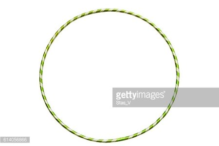 The hula Hoop light green with silver