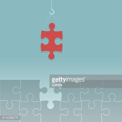 The jigsaw puzzle is almost completed