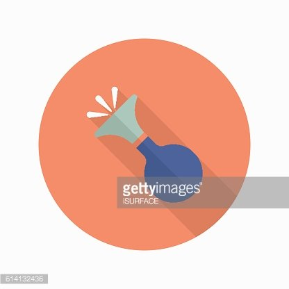 Party whistle icon , Vector flat long shadow design.