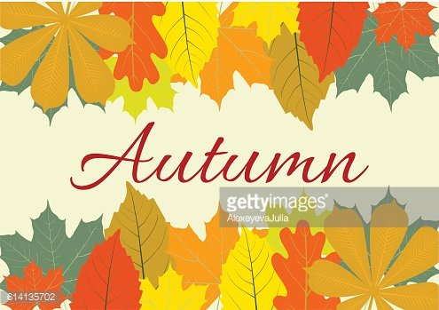 Autumn Leaves Set, october colorful