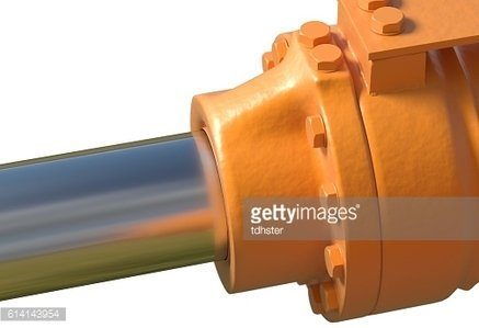 machine piston hydraulic system industrial isolated 3d illustration