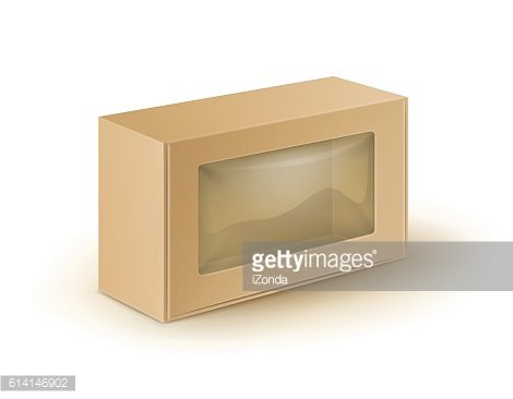 Brown Cardboard Box Packaging For Food, Gift with Plastic Window