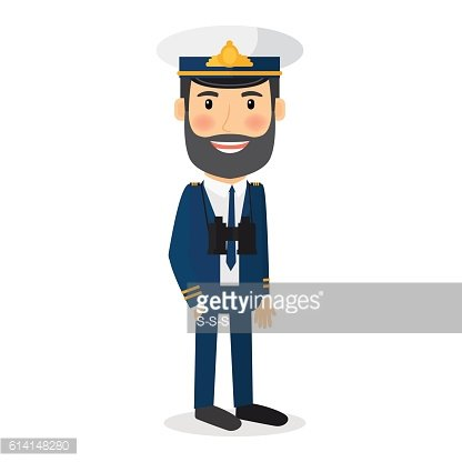 Sea captain vector character