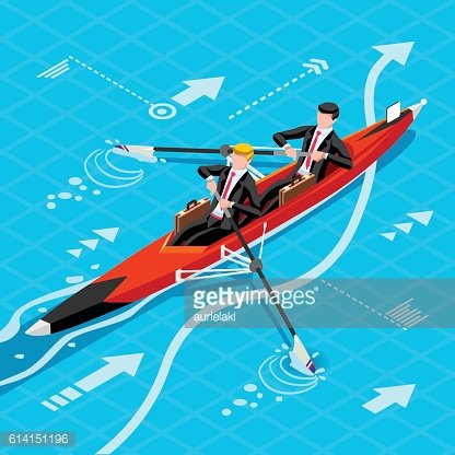Ambitious business Team change Career Ambitions vector concept