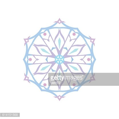 Christmas Decoration Snowflake Isolated