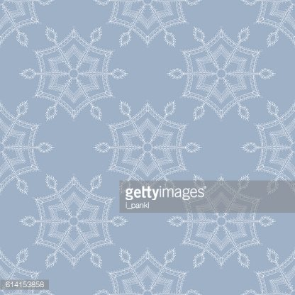 Winter ice snowflake seamless pattern for Chr