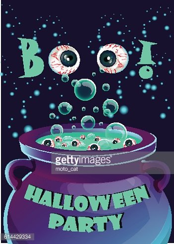 Halloween party poster, flyer,Vector illustration.trick or treat