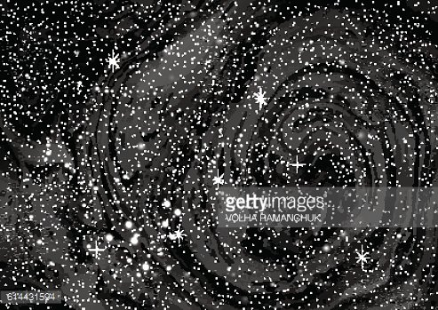 Cosmic galaxy background with stardust and bright shining stars.