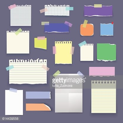 Set of vector paper poster mockup, notes, banners, sticky.