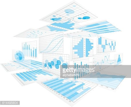 Graphs, charts. Business image.