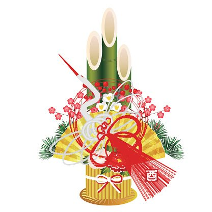 Rooster crane New Year's card icon