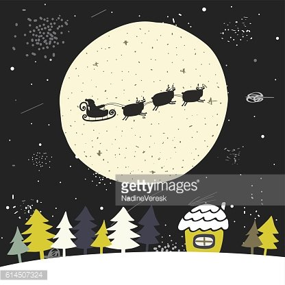 Cute hand drawn doodle Christmas background