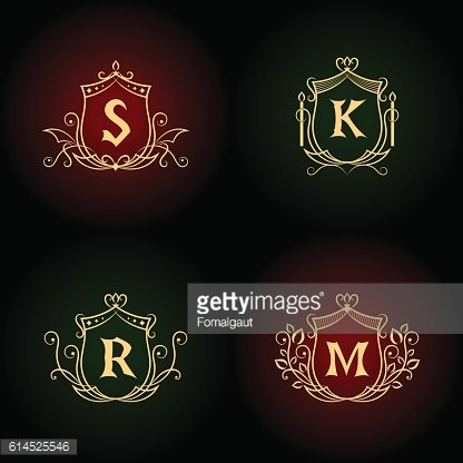 Monogram design elements, graceful template. Elegant business emblems, Vector illustration
