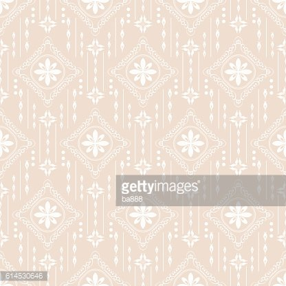 Seamless Pattern Vintage Wallpaper Art