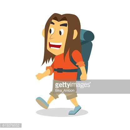Vector illustration of backpack going on an adventure
