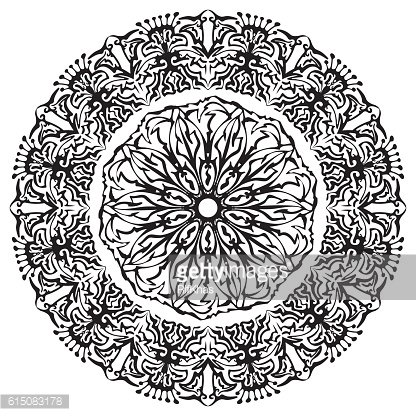 Ornamental patterned circle.