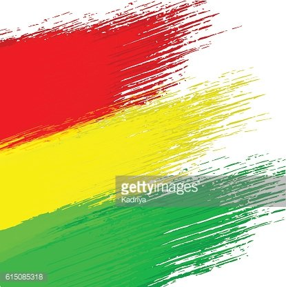 Grunge background in colors of bolivian flag