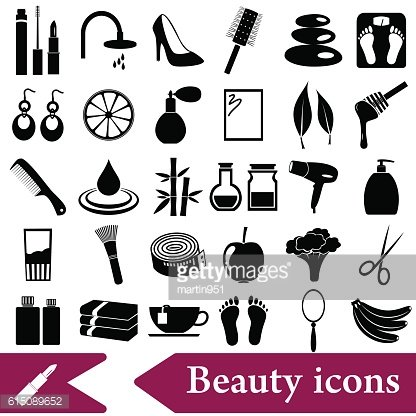 beauty theme big set of various icons eps10