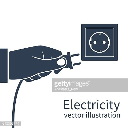 Power plug in hand