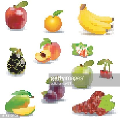 Fresh juicy fruit and berries isolated
