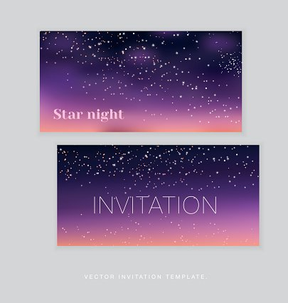night stars space background.