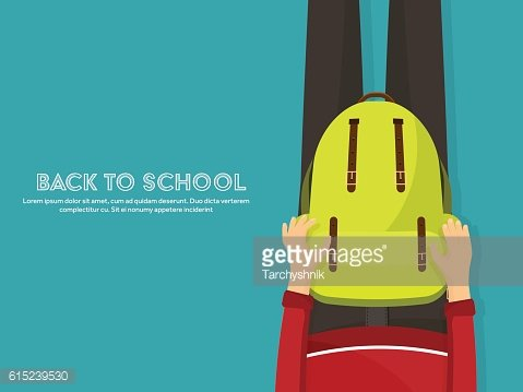 Back to school flat background. Online education and study. Teacher