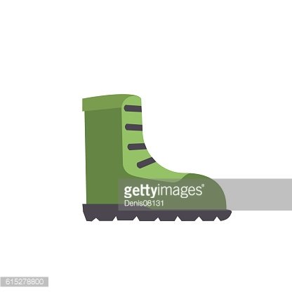 Vector Cartoon Army Boots isolated