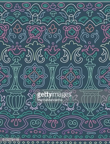 Ethnic seamless stripe pattern. Vector illustration for your cut