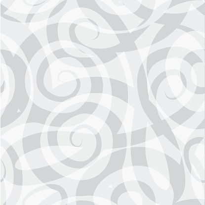 Abstract spiral seamless monochrome pattern. Swirl geometric ornament